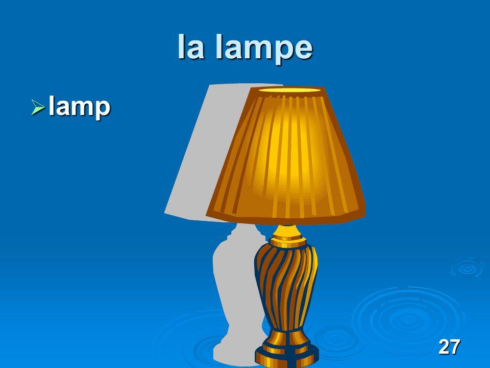 27 la lampe lamp lamp