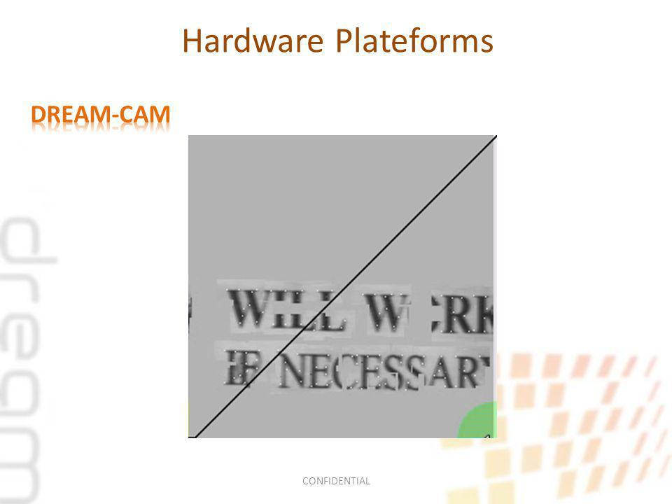 Smart Cameras FPGA Private Memories SRAM 1MW SRAM 1MW SRAM 1MW SRAM 1MW SRAM 1MW Communication Sensors Imager Inertial sensor GPS Ours Smart cameras are FPGA-based systems and modular.