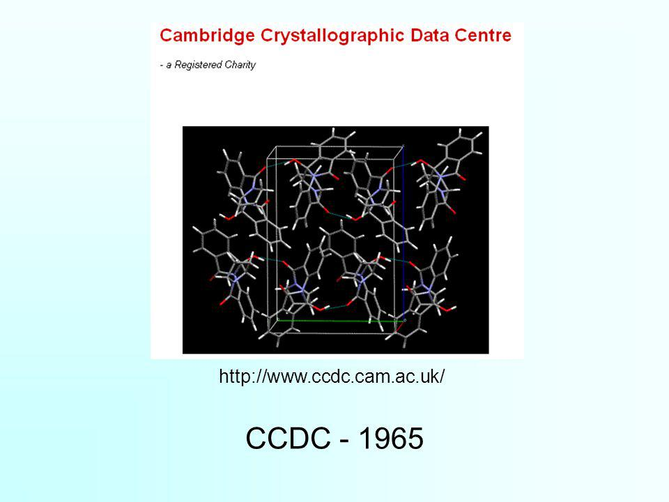 CCDC - 1965 http://www.ccdc.cam.ac.uk/