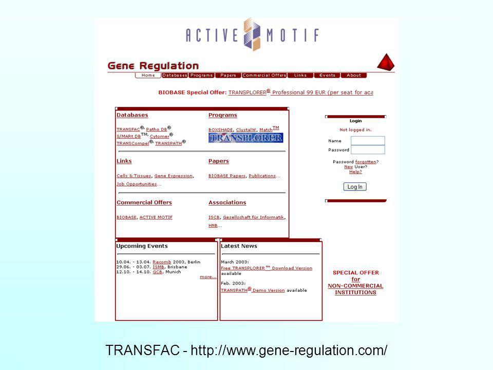 TRANSFAC - http://www.gene-regulation.com/