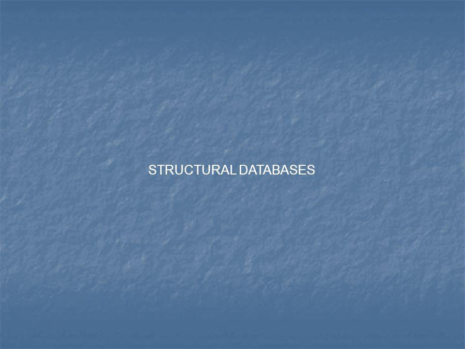 STRUCTURAL DATABASES