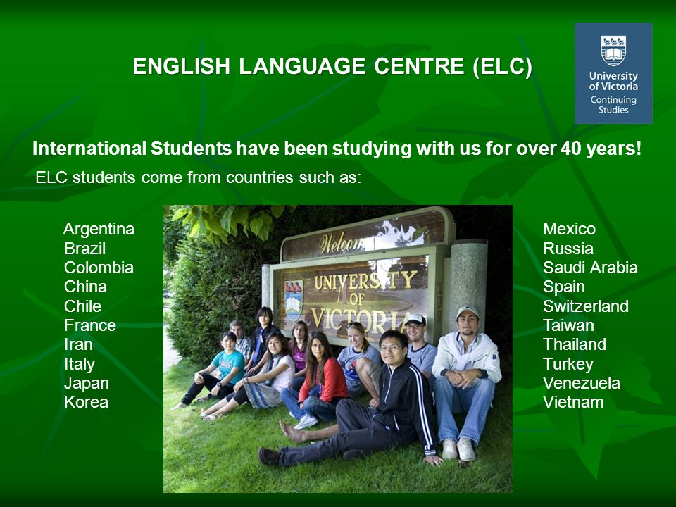International Students have been studying with us for over 40 years.