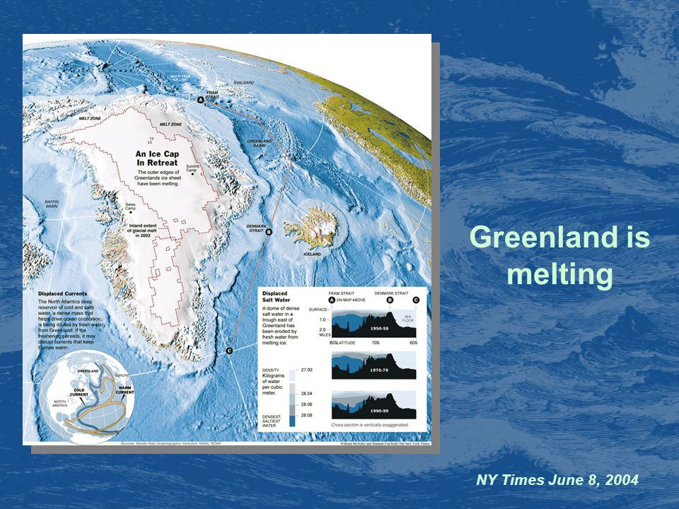 NY Times June 8, 2004 Greenland is melting
