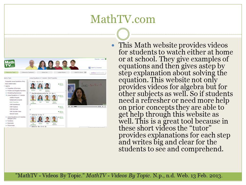 Best Math Tutorial Websites Pictures Inspiration - Math Worksheets ...