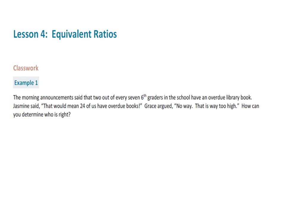 Equivalent Ratios Definition