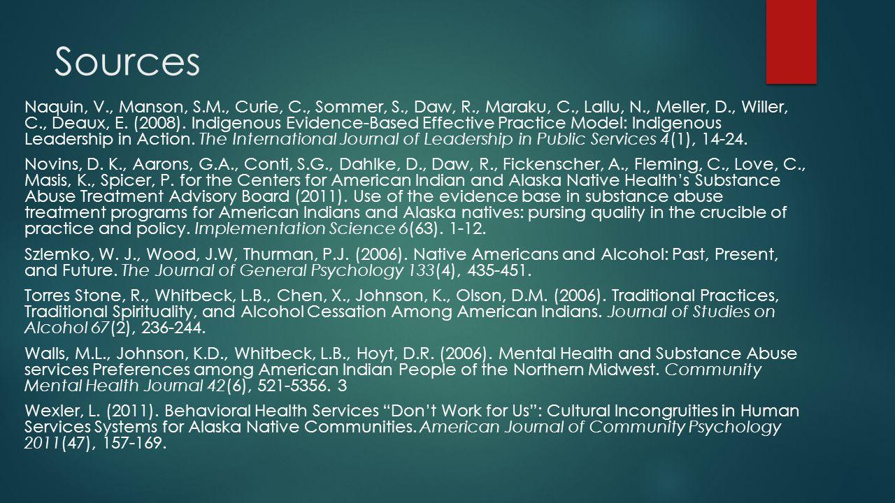 Sources Naquin, V., Manson, S.M., Curie, C., Sommer, S., Daw, R., Maraku, C., Lallu, N., Meller, D., Willer, C., Deaux, E.