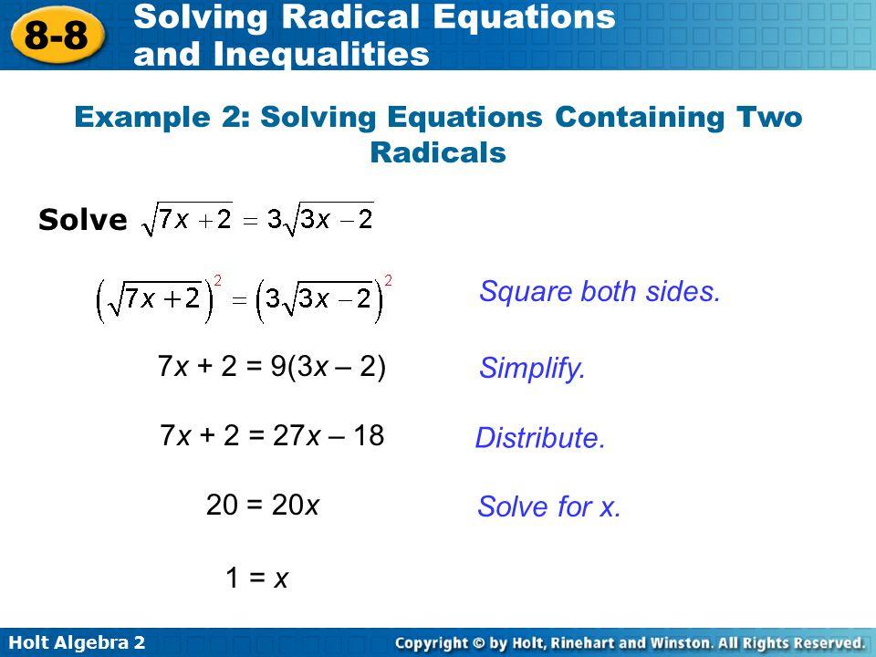 Solving Radical Equations Practice Jennarocca – Solve Radical Equations Worksheet