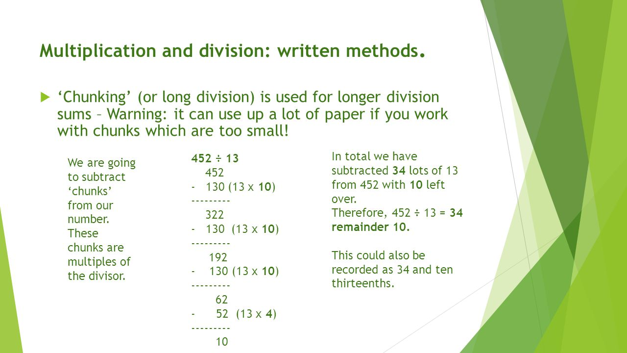 Bus Stop Division Worksheets Tes Year 4 written ision by – Division by Chunking Worksheets