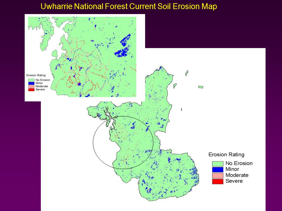 Uwharrie National Forest Current Soil Erosion Map