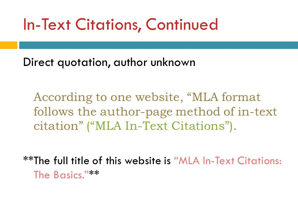 Apa in text citation one author