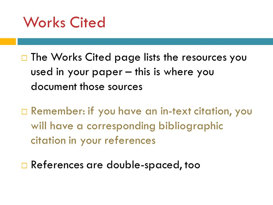 Works cited page isn't printing correctly!?