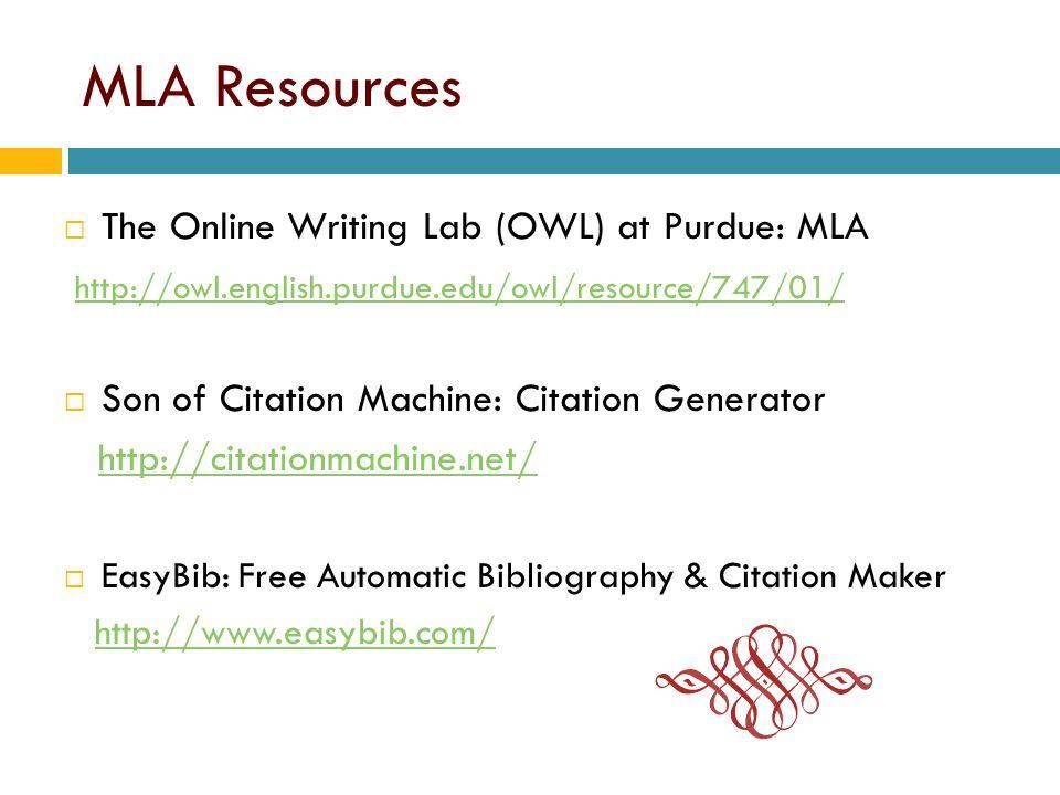 purdue owl mla citation generator