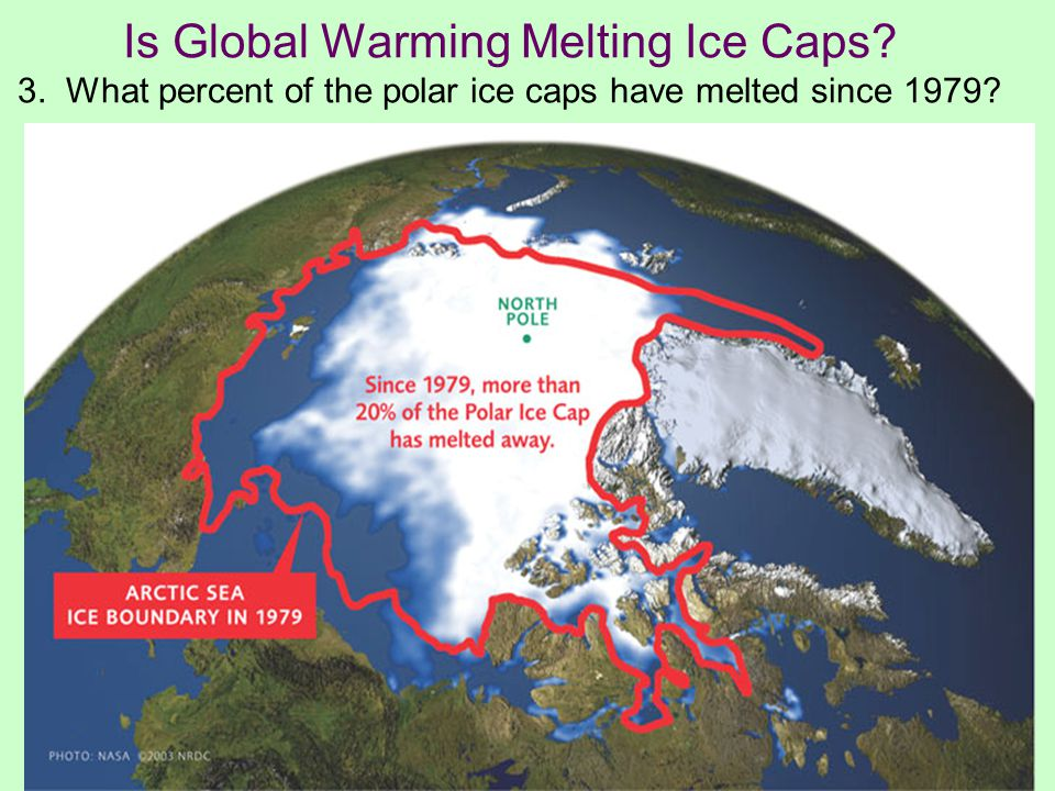 Is Global Warming Melting Ice Caps 3. What percent of the polar ice caps have melted since 1979