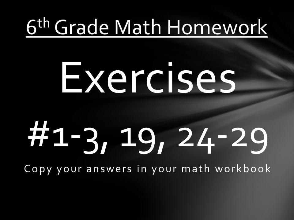 Nice 6th Grade Math Homework Answers Ideas - Math Worksheets ...