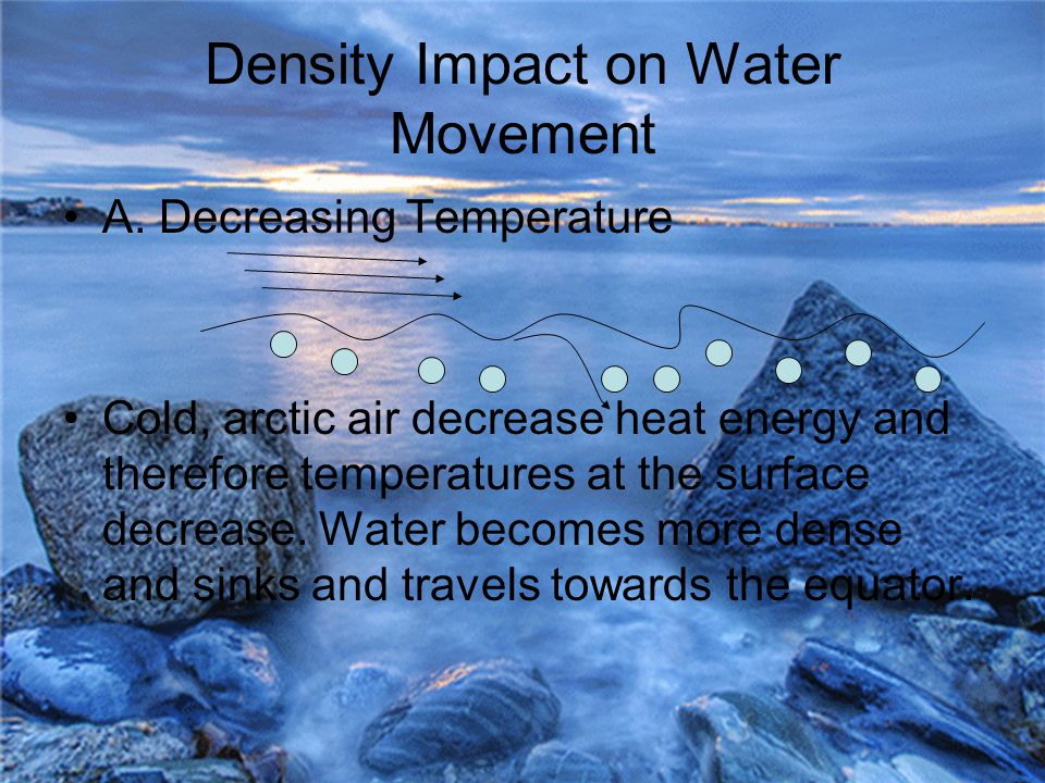 Density Impact on Water Movement A.