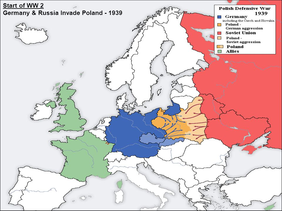 3 Start of WW 2 Germany & Russia Invade Poland