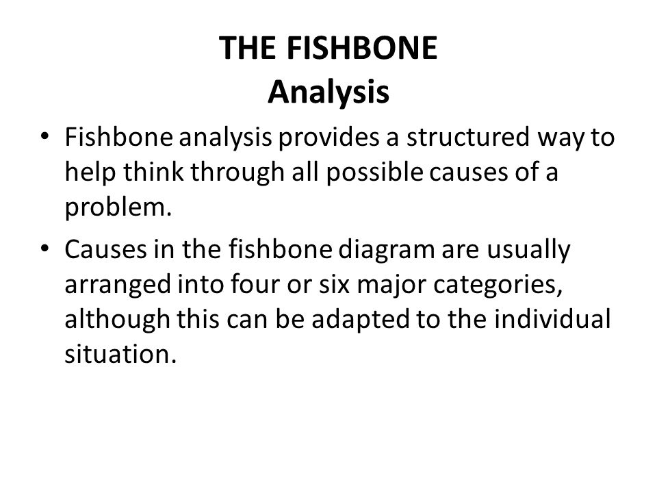 13 organizational planning decision making fishbone analysis hl the fishbone analysis fishbone analysis provides a structured way to help think through all possible causes ccuart Gallery