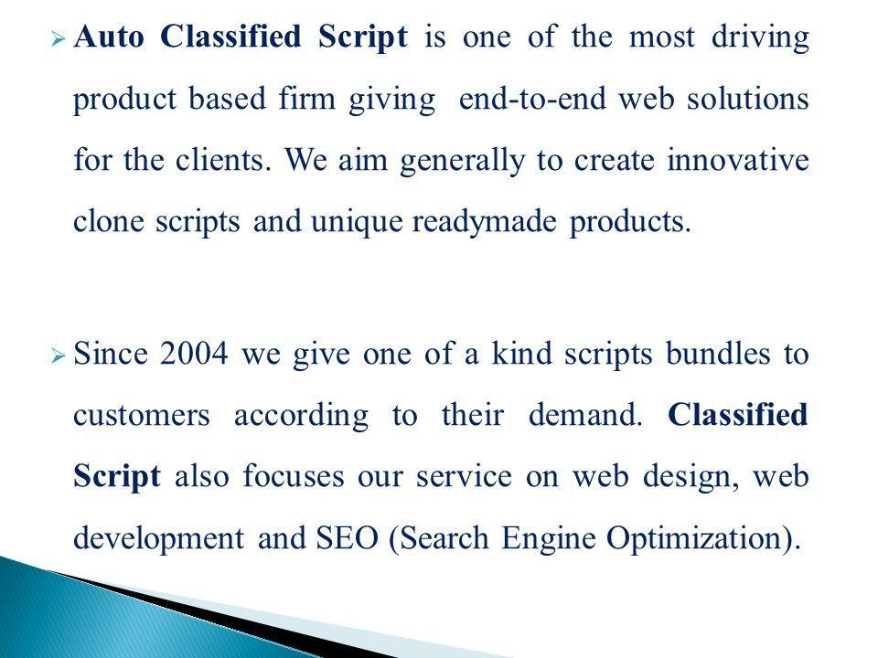 auto classified script   classified script - ppt download