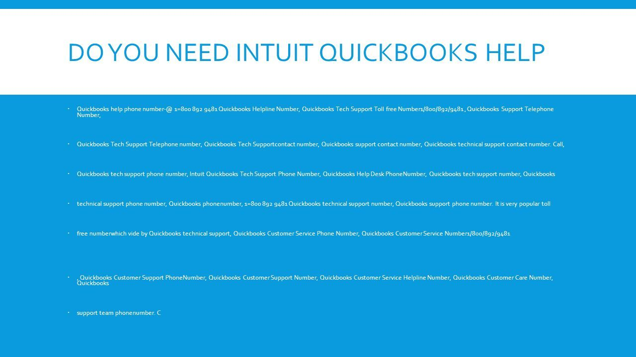 INTUIT 18008929481 QUICKBOOKS TECHNICAL SUPPORT PHONE NUMBER