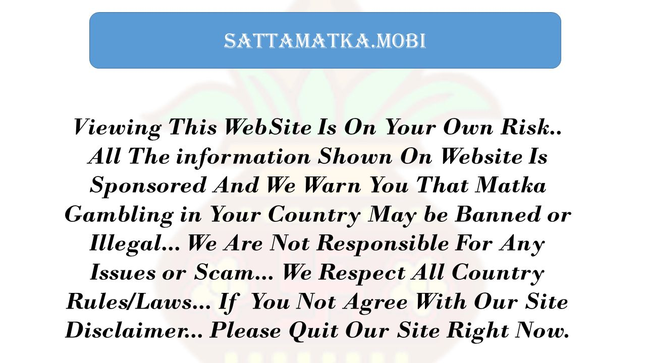 sattamatka.mobi Viewing This WebSite Is On Your Own Risk..