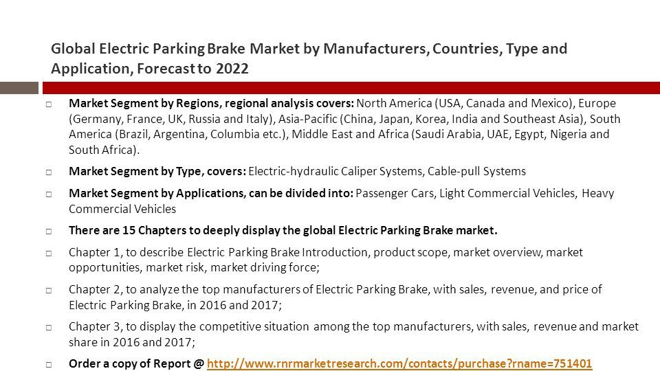 Global Electric Parking Brake Market by Manufacturers, Countries ...