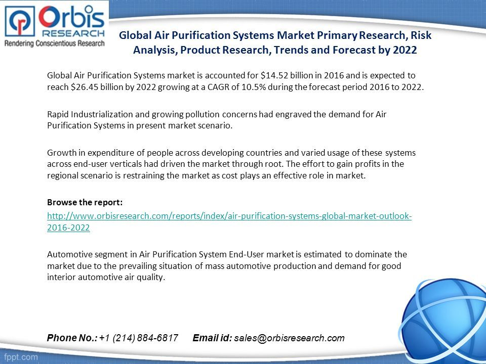 global air purification systems market primary research, risk, Presentation templates