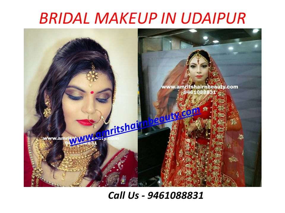 BRIDAL MAKEUP IN UDAIPUR Call Us - 9461088831 www.amritshairnbeauty.com
