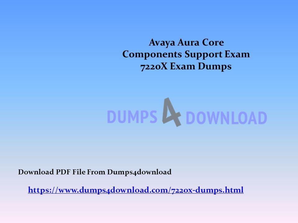 Avaya Aura Core Components Support Exam 7220X Exam Dumps https ...