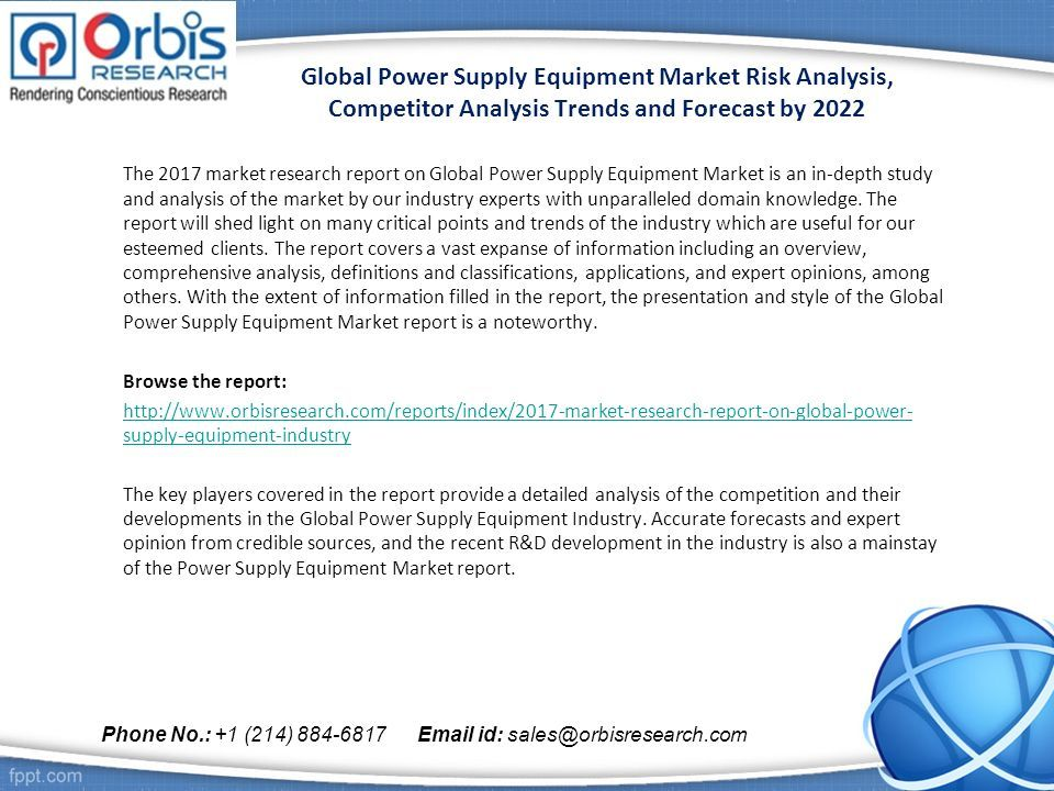 Global Power Supply Equipment Market Risk Analysis Competitor