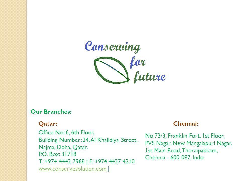 Our Branches: Qatar: Office No: 6, 6th Floor, Building Number: 24, Al Khalidiya Street, Najma, Doha, Qatar.