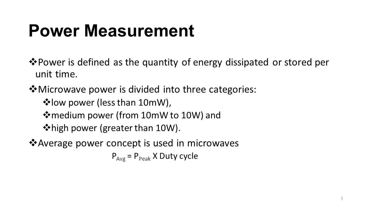 3 Power Measurement ...