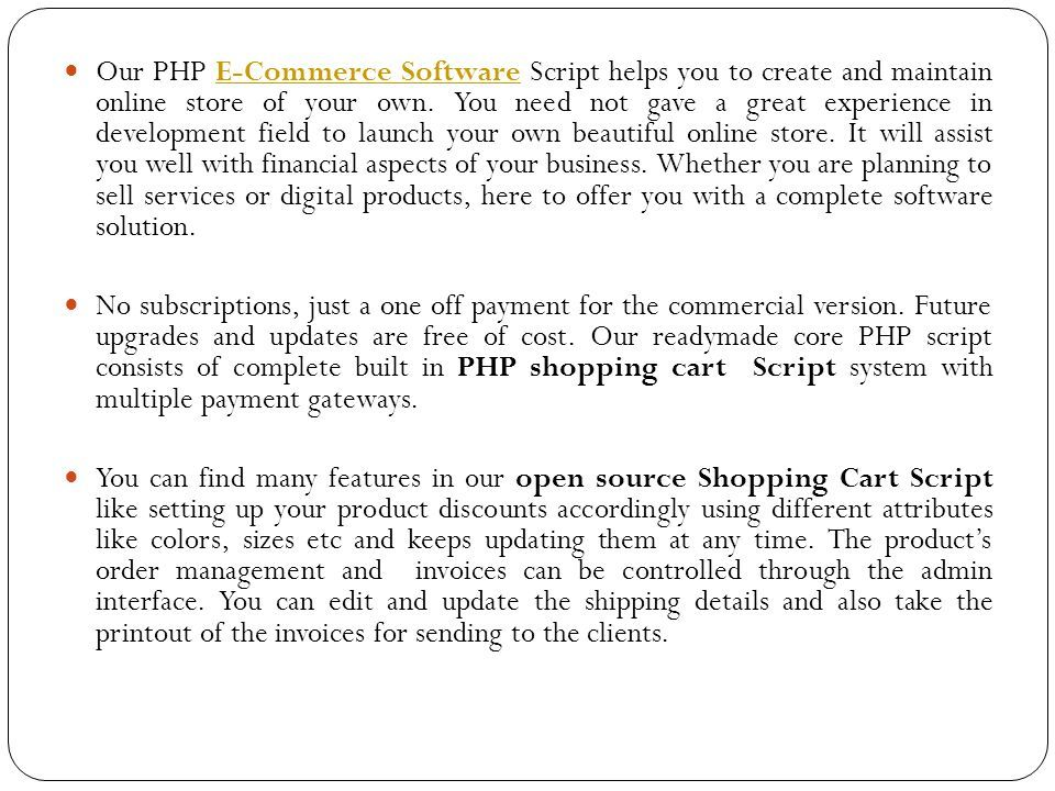 Ecommerce Software Php Shopping Cart Script Open Source Shopping - What do you need on an invoice online discount stores