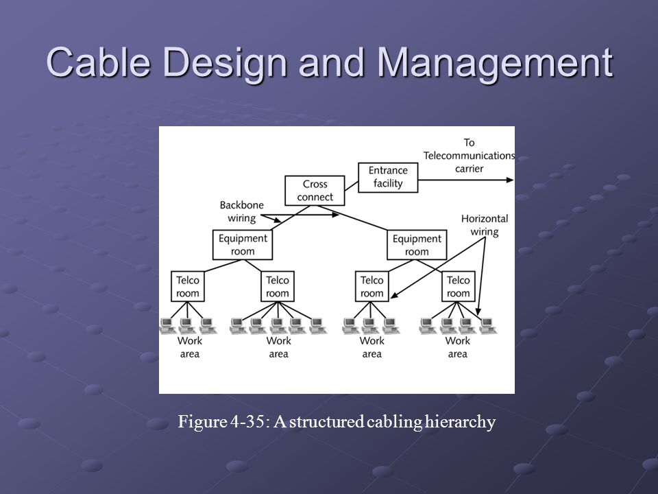 Cable Design and Management Figure 4-35: A structured cabling hierarchy