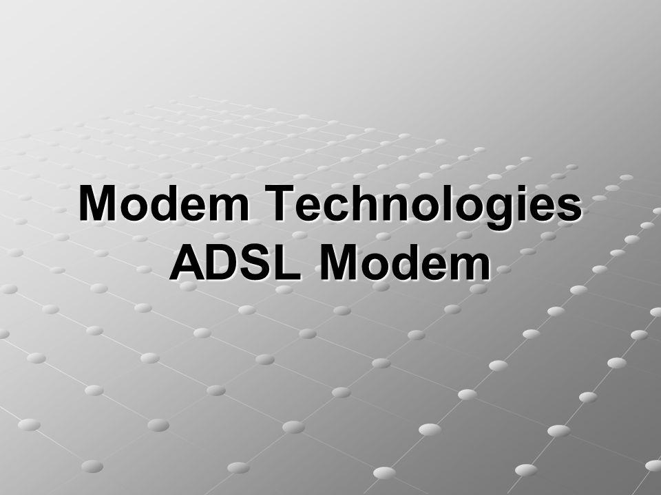 Modem Technologies ADSL Modem