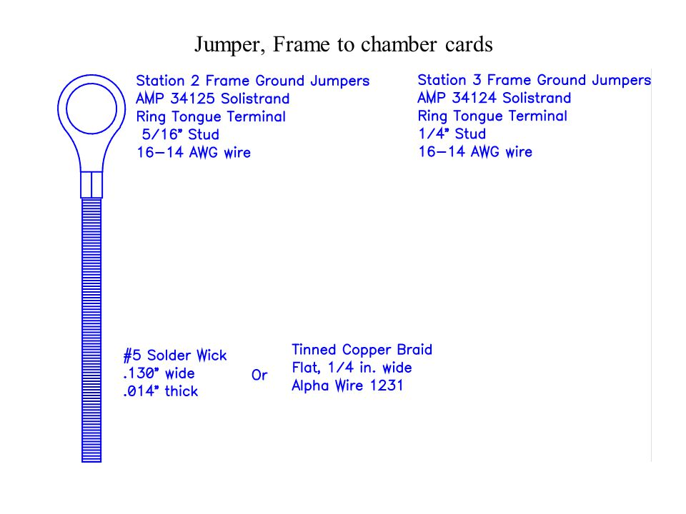Jumper, Frame to chamber cards