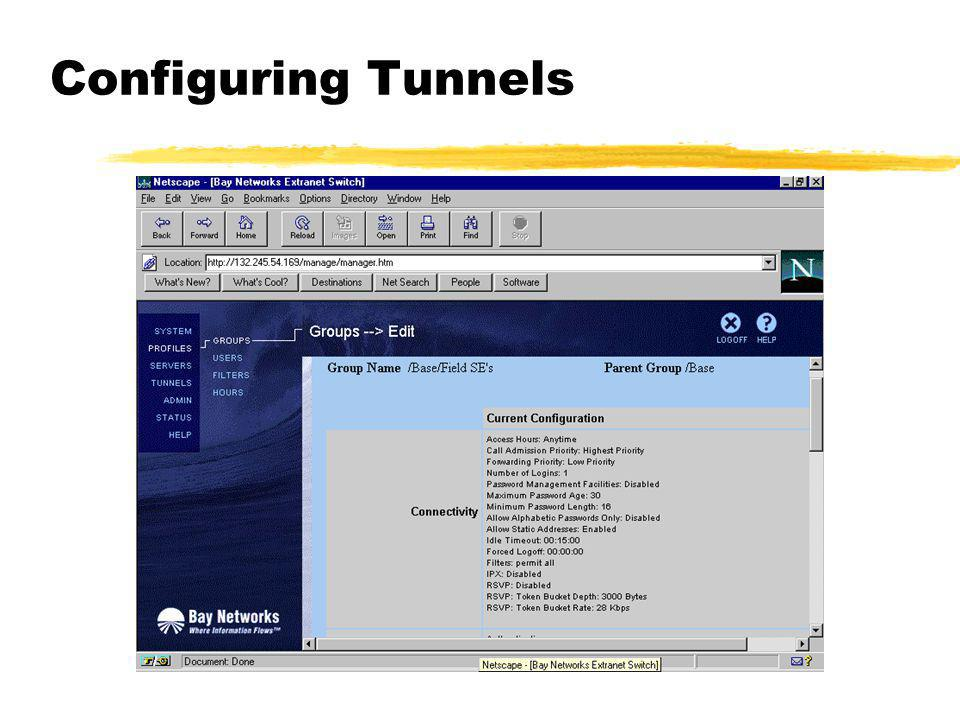 Configuring Tunnels