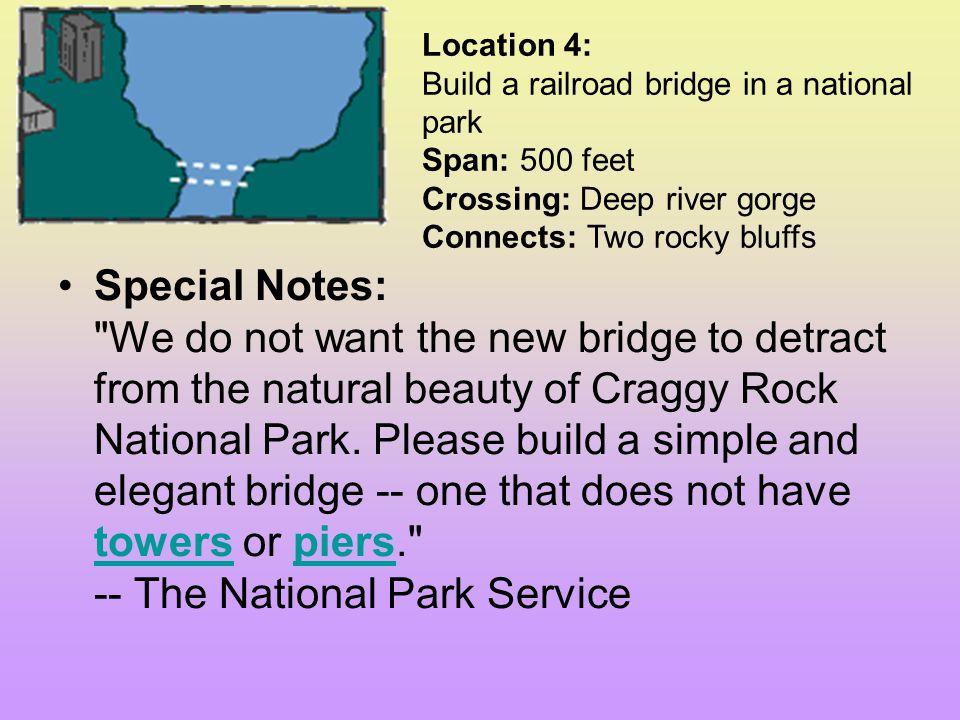 What kind of bridge should you build? (Select one) Beam Suspension Drawbridge Arch