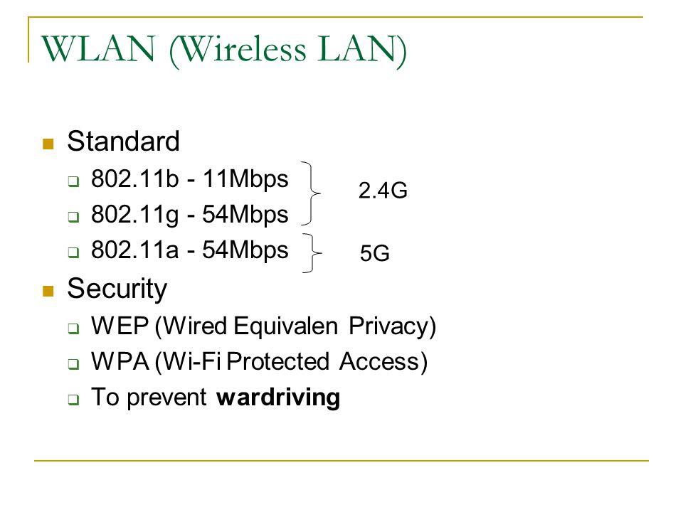 Dial-up Services Modem Modulator/demodulator A device that converts analog signal to digital (modulation) and vice versa (demodulation) Speed 1200/2400/9600 bps 14.4/28.8/33.6 Kbps 56 Kbps