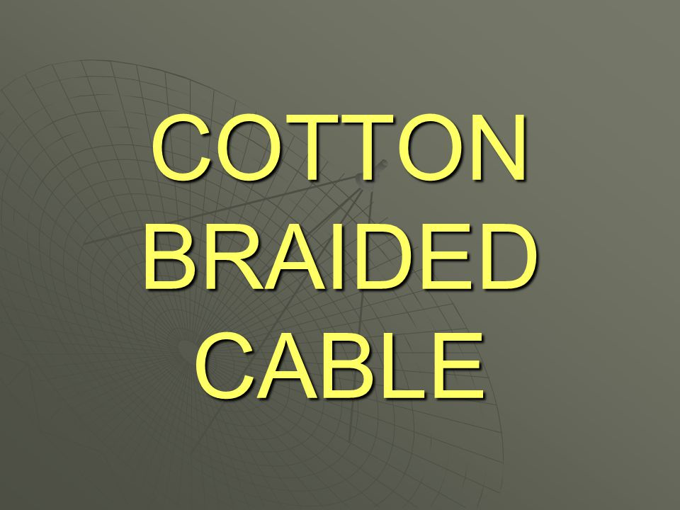 This type of cable is unique to This type of cable is unique to BT and can be found in BT and can be found in Telephone Exchanges and in Telephone Exchanges and in Repeater Stations.