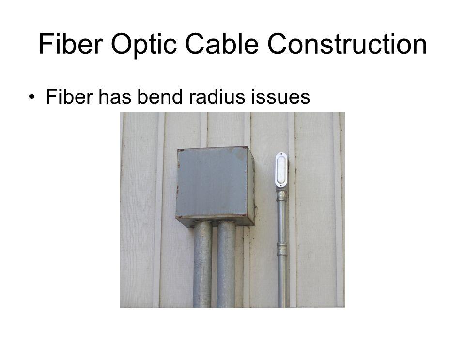 Fiber Optic Cable Construction Fiber has bend radius issues