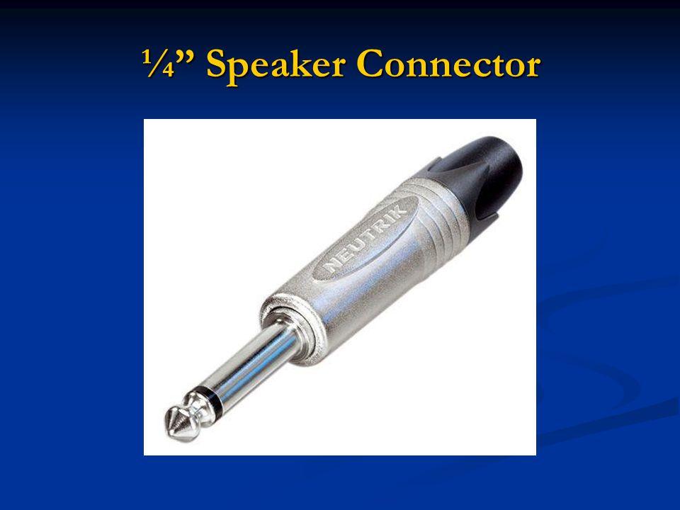 ¼ Speaker Connector