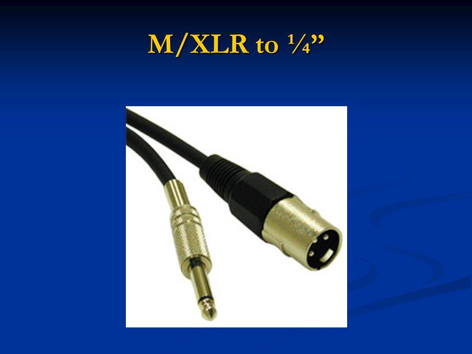 M/XLR to ¼