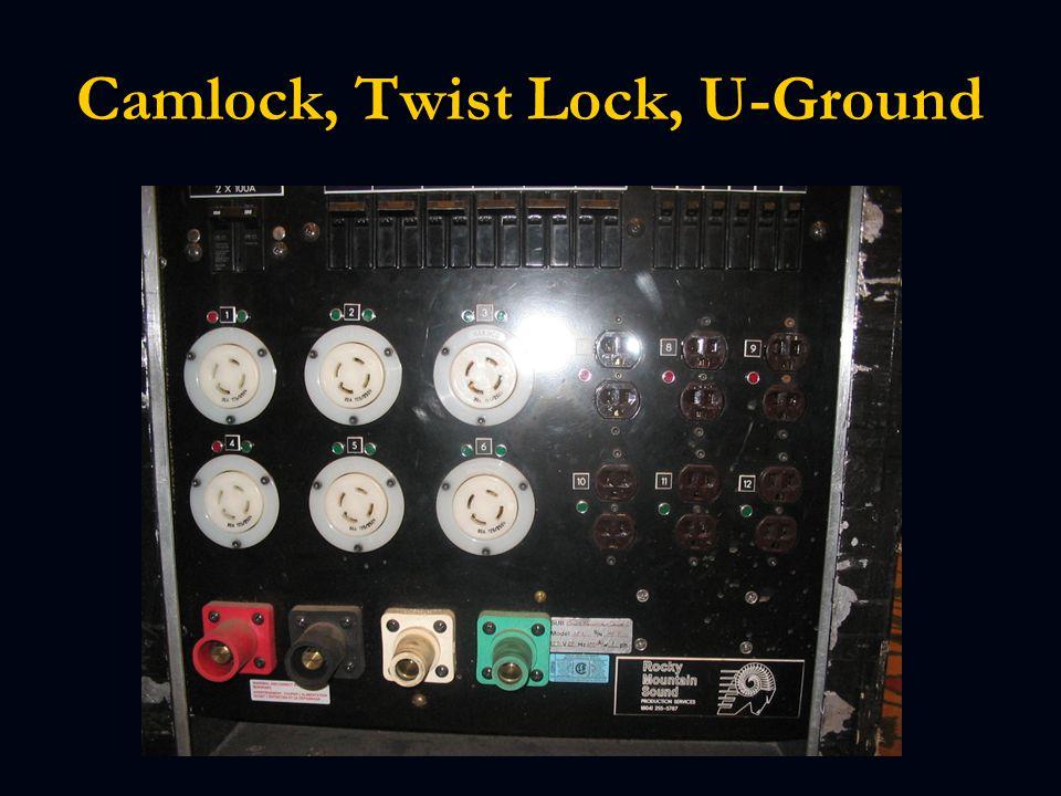 Camlock, Twist Lock, U-Ground