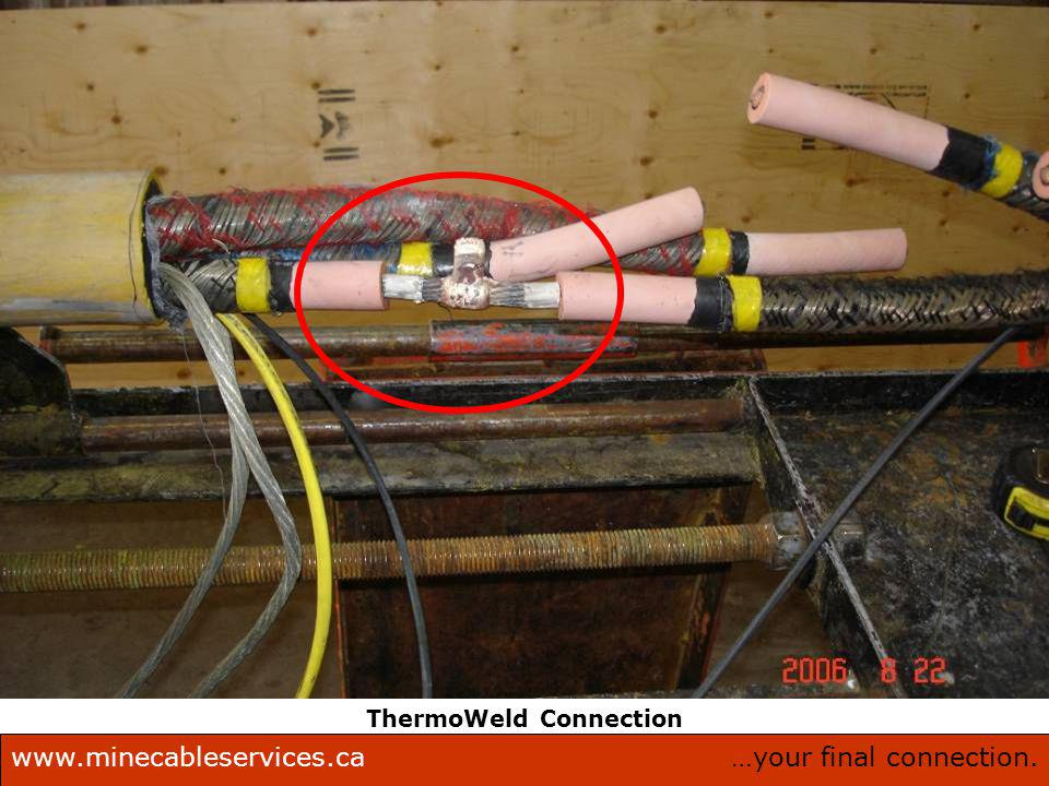 …your final connection.www.minecableservices.ca Mine Cable Services Corporation. ThermoWeld Connection
