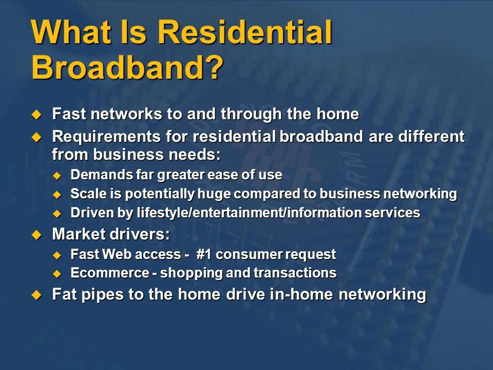 How Quickly Will Broadband Happen.U.S.