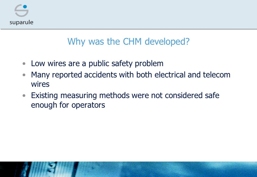Why was the CHM developed.