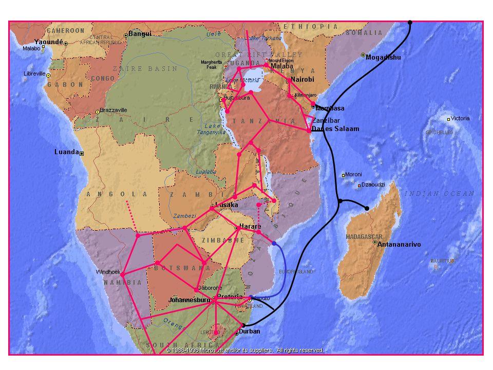 Mahajanga Mtunzini Zanzibar Eastern Africa Submarine Cable System (EASSy)