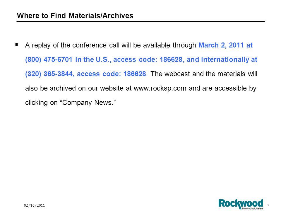 24 02/16/2011 Estimates for 2011
