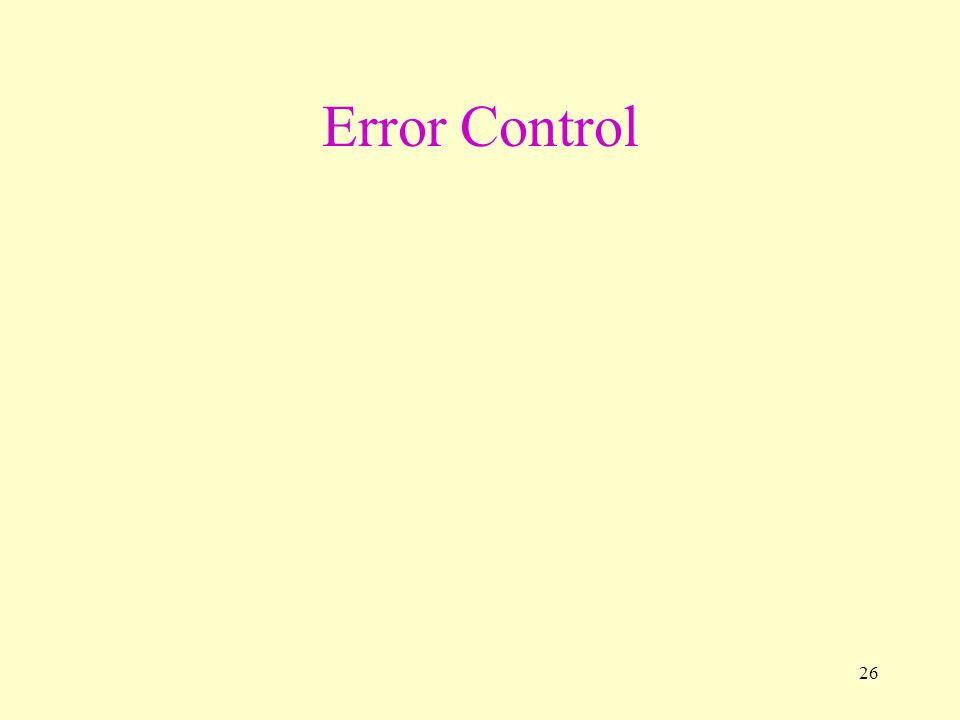26 Error Control