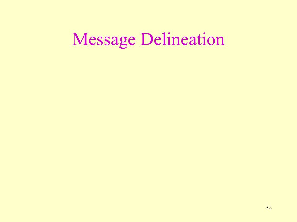 32 Message Delineation